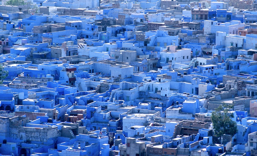 Jaipur is known as the Pink City, but some say that the Blue City is more blue than the Pink City is pink.