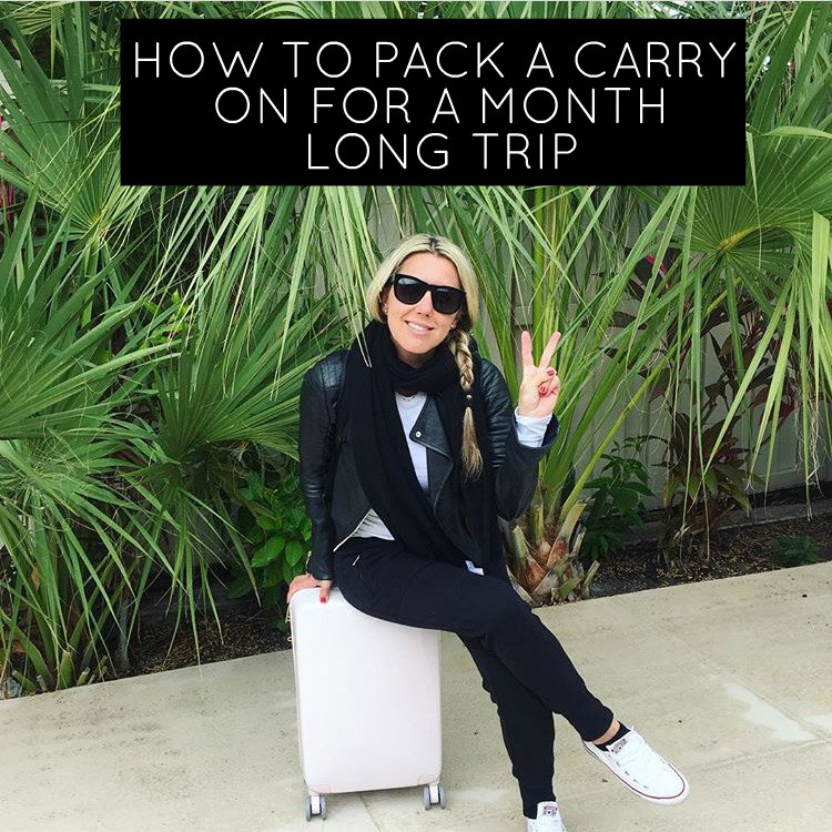 How to Pack a Carry on for a month long trip. Pack 6 dresses, 5 pairs of shoes...