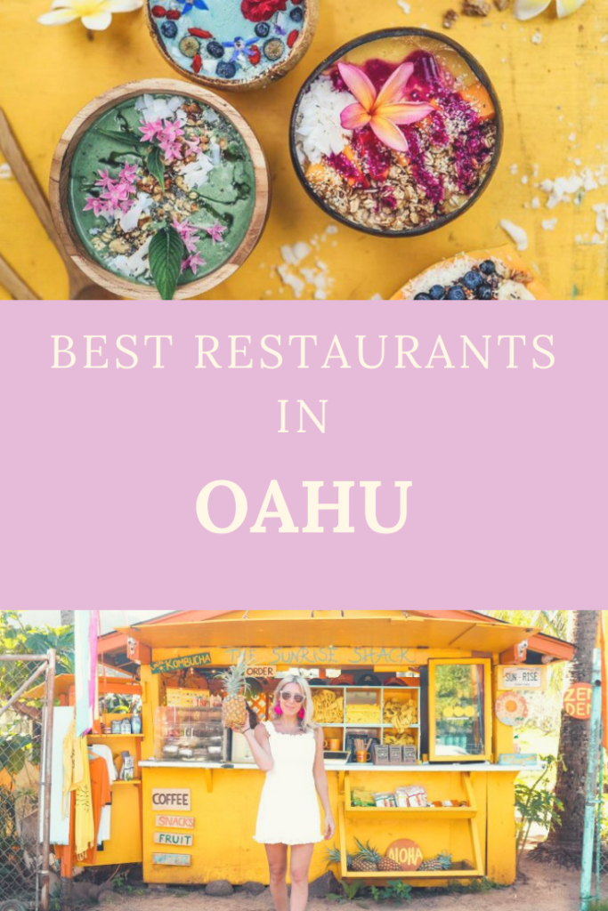 BEST PLACES TO EAT IN OAHU